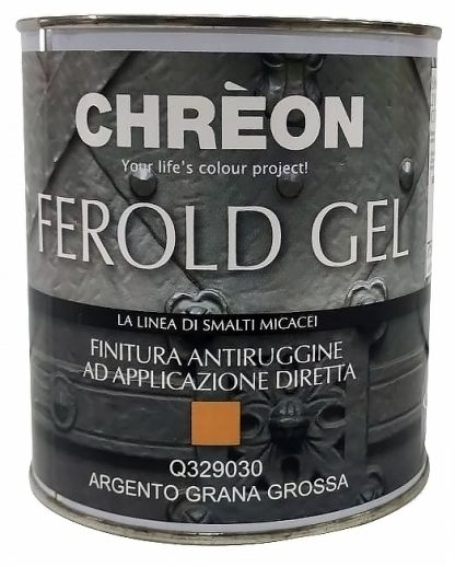 CHREON Finitura Antiruggine ad applicazione diretta Argento Grana Grossa