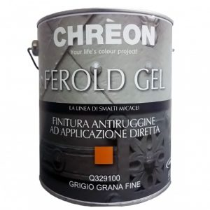 CHREON Finitura Antiruggine ad applicazione diretta - Grigio Grana Fine