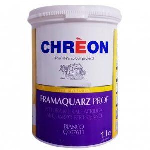 CHREON Pittura Murale Acrilica al Quarzo Per Esterno BIANCO-1L-Q107611