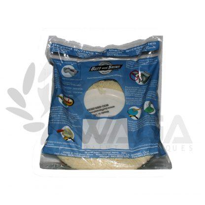 Gelson Cuffia lana bianca per pasta abrasiva 7503
