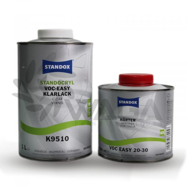 STANDOX KIT TRASPARENTE EASY 1LT + CAT 20-30 500ML