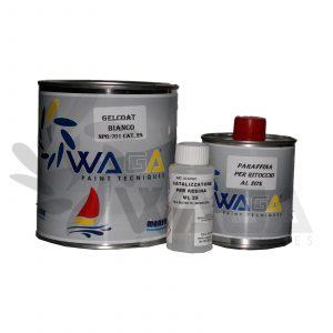 Waga Gelcoat bianco NPG-701 + catalizzatore per resina e paraffina per ritocchi