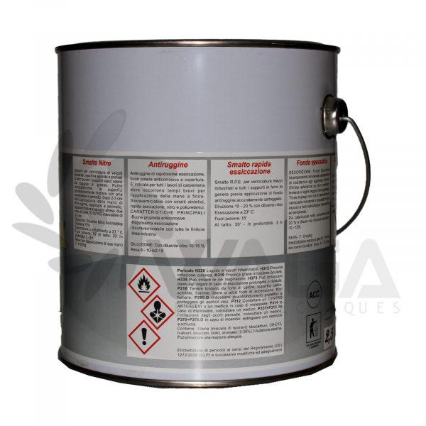 Waga smalto nitro bianco opaco 2,5 L retro